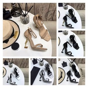 2021 Luxury Designer Women Sandals OPYUM leather high heels metal heel adjustable ankle straps Top Quality With Box Size 35-40