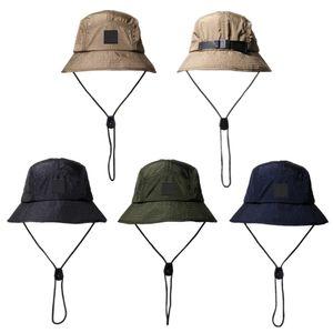 Neue Mode Eimer Hut Faltbare Fischer Hut Unisex Designer Outdoor Sunhat Wandern Klettern Jagd Strand Angeln Hüte Männer Zeichnen String Kappe
