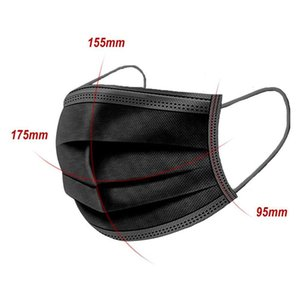 Black Face Masks with 3-Layer Protection Fashion Designer Outdoor Mask