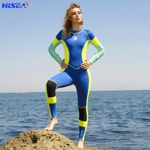 Hola mujer de una pieza alto elástico 3mm neopreno traje de neopreno surfing nadar triola triatlón mojado triola scuba lanza pesca l0312