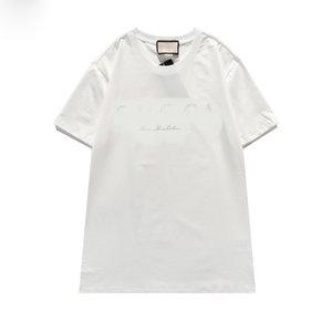 2021 أزياء رجالي مصمم القمصان الصيف المحملات كرين الطباعة جودة عالية قميص الهيب هوب الرجال النساء قصيرة الأكمام المحملة الحجم M-3XL6843