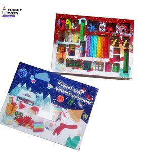 New! Fidget Toys Christmas Blind Box Favor 24 Days Advent Calendar Kneading Music Gift Boxes Countdown 2021 Children's gifts DHL q14b