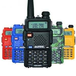 Protable 128 Channels 5 Watts Dual Band BF uv-5r 8w Walkie Talkie Pair Up To 5KM