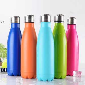 500ml Stainless Steel Thermal Cup Coffee Vacuum Insulated Flask Travel Hiking Outdoor Cups Colorful Thermos Mug Water Bottles RRE10648