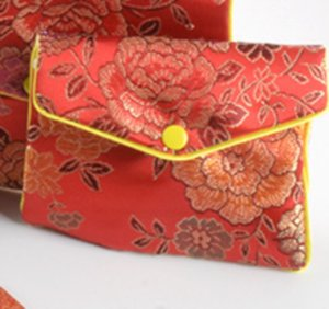 30 قطع 5 ألوان الزهور سستة عملة محفظة الحقيبة الأزياء هدية أكياس للمجوهرات حقيبة الحرير الحقيبة حامل بطاقة الائتمان الصينية عرض 16 U2