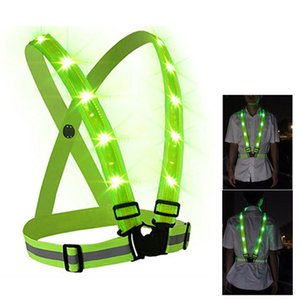 Outdoor Sport Running LED Lights Cycling Camping Flashlight Warning USB Charge Chest Lamp Straps Reflective Vest Safety Clothing