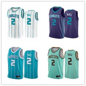 2021 Mens Basketball JerseyCharlotteHornissenLamelo Ball # 2 Mint Green City Association Teal