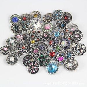 100 pcs lote 18mm snaps charme estilo misturado 18mm botão intercambiável apto para gengibre snaps moda jóias 64 T2