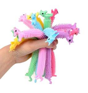 Fidget Toys Toy Sensory Toy Noodle Rope TPR Stress Reliever Unicorn Malala Le Decompressione Pull Ropes Ansia Sollievo per bambini divertente