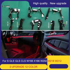 12 Colors For Benz GLE GLS CLA W166 W292 X166 W117 Car Ambient Light Interior Decorative illumination LED Lamp