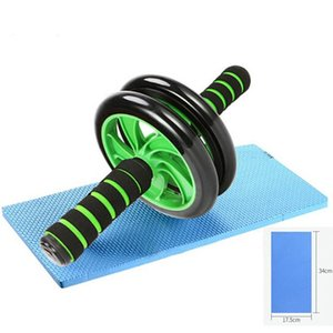 ABS Abdominal Roller Exercise Wheel Fitness Equipment Mute Rollers For Arms Back Belly Core Trainer With Free Knee Mat Training