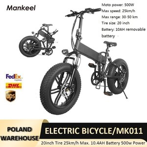 EU Warehouse Style 48V 500W Electric Bicycle Scooter 20 Inch Aluminum Alloy 6061 Foldable Fat EBike