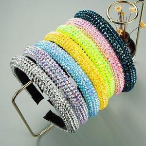 Full Crystal Elegant Sparkly Hairbands for Women Rhinestone Padded Handmade Sponge Headbands Girls Hair Accessories 7 colors