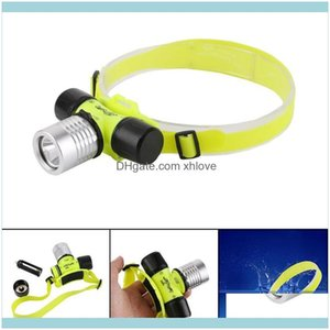 And Hiking Sports & Outdoorsmode Waterproof Led Diving Headlamp Underwater Torch Light Scuba Head Rechargeable Camping Cycling Headlight Hea