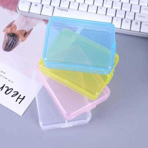المألوف المنزلية تخزين مربع تخزين الوجه تنظيف فيلم البلاستيك البلاستيك شفاف المحمولة مستطيلة التخزين الملحقات