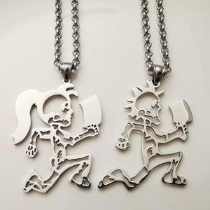 Una coppia ICP Hchetman Hatchet Donne Pendente in acciaio inox in acciaio inox Charms collana 4mm Catene di gioielli da 4 mm da 24 pollici