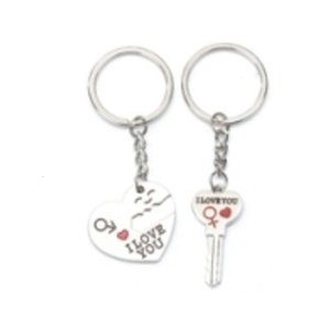 Anahtarlık Kişilik Seni Seviyorum Gizlice Kalp Şeklinde RS Anahtarlık Hediye Kolye Karşılıklı Hediyeler