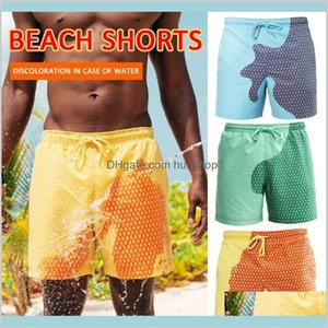 2020 Men Color-Changing Swimsuit Briefs Shorts Magical Change Color Beach Shorts Discoloration Swimming Pants Quick Dry Yw0Ff Dwzjn