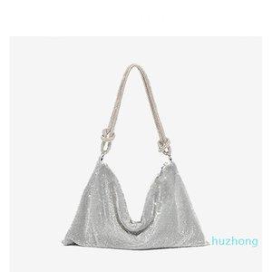Handle Rhinestones Evening Clutch Bag Crystal Diamonds Hobos Dinner Party Wedding Purses and Handbag Luxury Designer Tote Shoulder Bag