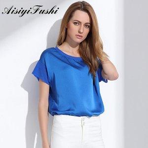 Aisiyifushi Kadınlar Yaz Gömlek Rahat Artı Boyutu Bluzlar Üst Bayanlar Kısa Kollu Blusas Mujer de Moda 2021 kadın