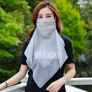 scarves Buta veil mesh neck cover Silk Mask mulberry summer thin face 4pt578