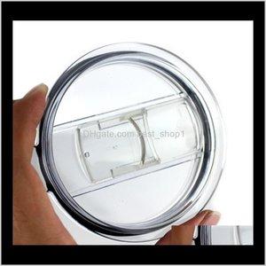 Transparent Plastic Cups Lid Sliding Switch Cover Drinkware Lid For 20 30 Oz Cars Beer Mugs Splash Spill Proof Ljja1595 Lbppb Gqj5I