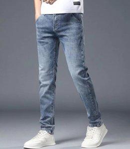Мода мужские джинсы прямые стройные эластичные джинсы мужские повседневные велосипед мужские растягивающие джинсовые брюки классические брюки джин