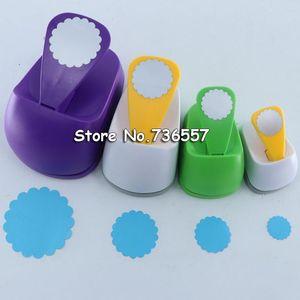 Binders 4 Sizes Wave Circle Design Eva Foam Punch Paper Puncher Scrapbooking Cutter Hole Craft For DIY Artwork