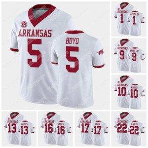 Arkansas Rakeem Boyd 2021 NCAA College Football Jersey Trelon Smith Hudson Clark De'Vion Warren Grant Morgan Treylon Burks Jalen Catalon Mike Woods