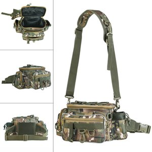 34x17x16cm Outdoor Camouflage Waist Shoulder Messenger Fishing Bag Fishing Reel Lure Photography Camera Storage Bag