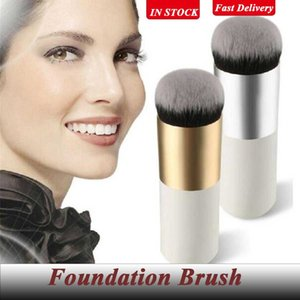 Fast Delivery Chubby Pier Foundation Brush Flat Cream Makeup Brushes Professional Cosmetic Beauty Make-up Tools Wholesale 6 Colors for Option