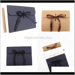 Kraft Paper Envelopes Covers Facial Masks Boxes Fashion Bows Ribbon Man Lady Gifts Black Brown White 1 5Wh F2 Helmv Gift Wrap Uae4E