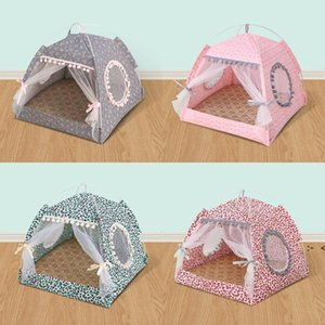 Four Seasons Currency Dog Houses Small Dogs Teddy Bed Folding Tent Nest Summer Portable Pet Supplies OWF10259