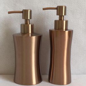 250ML 400ML 304 stainless steel Kitchen Bathroom Soap Dispensers body wash shower bottle rose gold soap dispenser