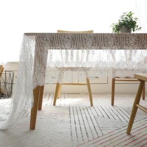 Table Cloth Nordic White Lace Tablecloth Cover Napkin Coffee Literary Cafe Book Shooting Background
