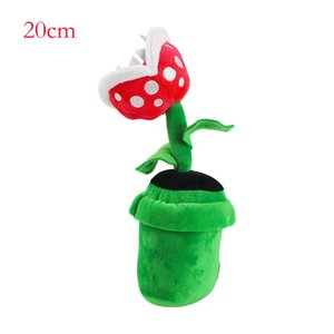 3pcs lot 18-20cm Petey Piranha Flower And Yoshi Stuffed Doll Plush Toy For Baby Kids Holiday Gifts