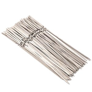 Tools & Accessories Stainless Steel BBQ Skewers Reusable Barbecue Grill Forks For Outdoor Camping Travelling, Necessary Utensils And