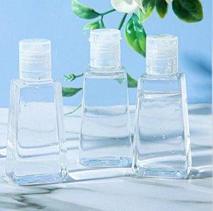 30ML 60ML PET زجاجة بلاستيكية مع قبعة الوجه فارغة اليد المطهر زجاجات إعادة الملء حاوية مستحضرات التجميل