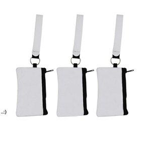 Sublimation Blank Credit Card Holder Storage Bags Heat Transfer Print Neoprene Purse Lanyard Wristlet Wallets Handbags by sea OWB10728
