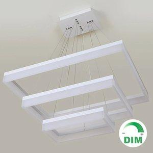 For restaurant foyer bedroom dinning Lamps living room Modern PC plastic Acrylic rectangular square LED pendant light hanging lamp