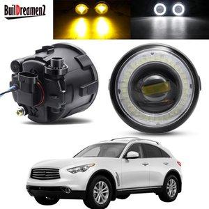 Other Lighting System 2 X Angel Eye Fog Light Assembly Car LED Lens Driving Lamp DRL H11 12V For Infiniti FX FX35 FX37 FX45 FX50 FX30D 2006-