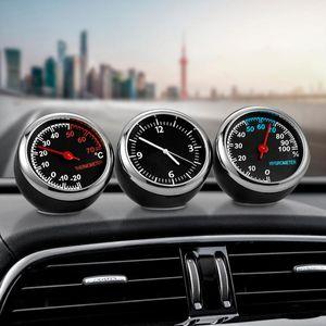 2020 NUEVO Coche Automóvil Reloj Digital Auto Reloj Automóvil Termómetro Higrómetro Decoración Adorno Reloj Accesorios para automóviles