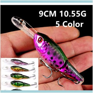 Sports Outdoorssports Outdoors 5 Color 9Cm 10Dot55G Crank Hooks 6# Hook Lure Hard Baits & Lures Pesca Fishing Tackle B14_79 Hlggv Drop Deliv