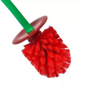 Encantadora forma de cereza Cepillo de lavabo Cepillo de inodoro Conjunto de titular de la limpieza Herramienta de limpieza Baño de plástico Decoración Accesorios de soporte rojo al por mayor 321 R2