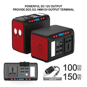 Solar Power Generator Portable Energy Station With 80W AC Output Bank Laptop Charger Emergency Tool Sets