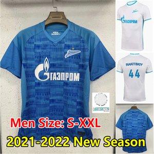 21 22 FC Zenit Saint-Pétersbourg Jersey de football 2021 2022 Malcom Rigoni Dzyuba Azmoun Lovren Chemise de football Adulte Hommes Maillots de pied