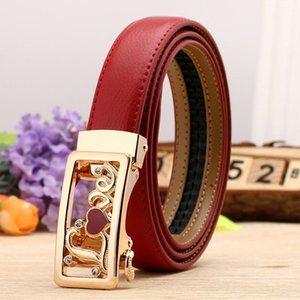 Marke Hohe Qualität Echtes Lederband Automatische reversible Schnalle Gürtel Für Kleid Ceinture Frauen Gürtel Luxusberühmtem Designer