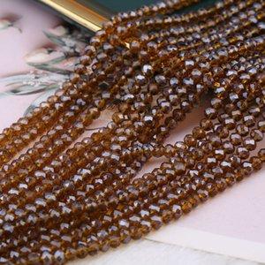 AB Multicolore Abacus Cristal Verre Lâche Perles Lâche Collier Faceté Bracelet Couleurs Bijoux Faire 17 U2