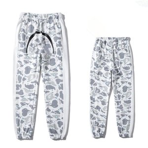 2021 Kanye loose print casual pants men's European and American fashion Capris handsome student couple