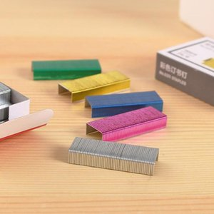 6 Universal Chisel 24 Point Colorful 3.4cm Length 800 Box Paper Book Binding Staples Fits Standard Staplers h Wmtowl